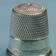 SOLD Sterling Silver Thimble with Hive Knurling - Perfect