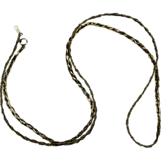 Lovely Long Gold Chain - 3 Braided Strands - made Just for You