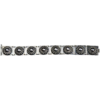 Heavy Vintage Sterling Silver Bracelet