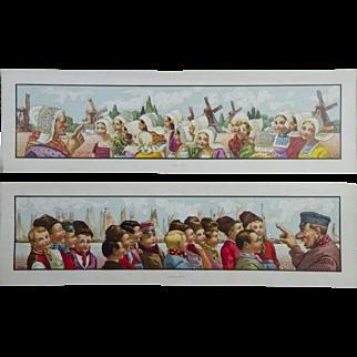 2 Spectacular Lithographs - Dutch Children