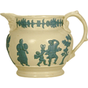 Early Stoneware Relief Molded Bacchus Pitcher, C1810-1830