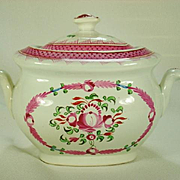 Clews Pearlware King's Rose Pattern Sucrier  1820's