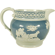 Stoneware Pitcher with Neoclassical Decoration, 1820's