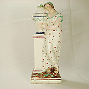 Early Staffordshire Figurine, Andromache at the Tomb of Hector, C 1800-1820