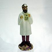 Czechoslovakian Art Glass Optometrist Doctor Figure