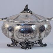 French 950 Lidded Sugar Cask 19th Century
