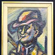 William W. Corasick Oil on Board Self Portrait