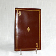 Genuine Calf Skin Golden Tooled Florentine Italian Leather Wallet Folio