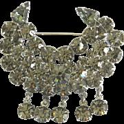 Wonderful Vintage Rhinestone Brooch Pin