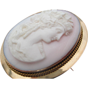 14kt Angle skin Victorian cameo brooch