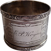 SALE Sterling Silver detailed Antique Napkin Ring
