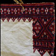 SALE Embroidered Linen Purse Folk Art