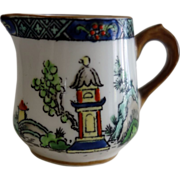 """Crown Staffordshire miniature Creamer """"Ye Old Willow"""""""