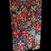 Vintage Chintz Quilt Top--gorgeous colors