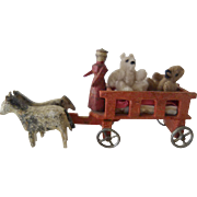 SALE Miniature Wagon, horses and Bears