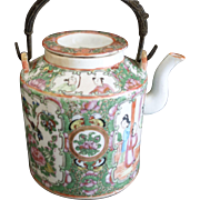 SALE Rose Medallion Teapot ~ Famille Rose ~ Rose Canton ~ Chinese Export  c. 1900