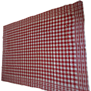 SOLD Vintage Tablecloth Red and White for crafts