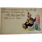 """SALE old Postcard Comic F. Opper """"The Great York Fair"""" Oct 2-6 1905"""