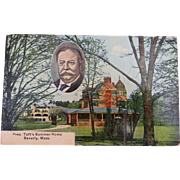 old Postcard Pres. Taft's Summer Home Beverly Mass 1910
