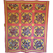 SALE 1800's Quilt- String Star Stunner