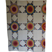 REDUCED Quilt ~ 1930's Touching Stars--each different
