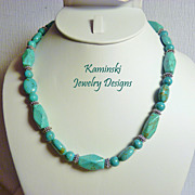 REDUCED Turquoise and Silver Necklace