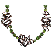 20% OFF 'Wired Chaos' Copper Wire With Crystal Beads Necklace