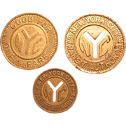 Three (3) New York City Transit Authority Tokens