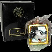 SOLD 50% OFF Christopher Radko 1995 Mickey & Minnie Toy Block Christmas Ornament