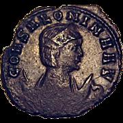 SOLD 50% OFF Salonina Wife Of Gallienus Bearded Elk Coin 253-268 AD
