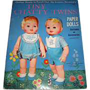 Tiny Chatty Twins Paper Dolls 1963 Never Used