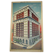 SALE 25% OFF Hotel Utica, Utica, NY 1944 Linen Postcard Unused