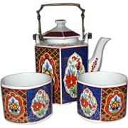 Tea For Two Dolphin China Tea Set With Brass Handle Japan
