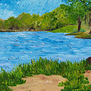 Texas landscape beautiful texture oil painting by Fallini