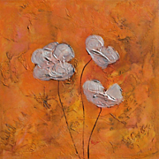 Pearl Poppies floral original painting modern art by Fallini