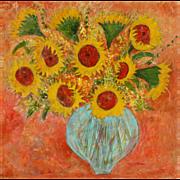 Bouquet of Sunflowers unique fine art by Monica Fallini