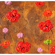 Floral painting beautiful texture and colors original Monica Fallini