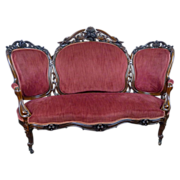 Sofa American Victorian c. 1860 Rosewood