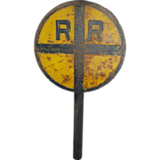 SOLD RR Crossing Sign c. 1920