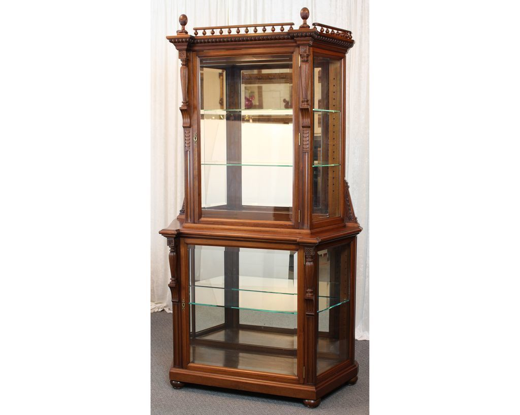 highly rated small glass display cabinet for wi