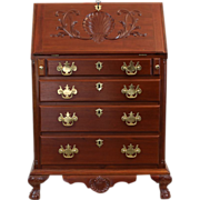 SALE Centennial Chippendale Style Mahogany Drop Front Desk c. 1890