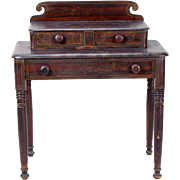 Paint Decorated Table with Drawers c. 1850