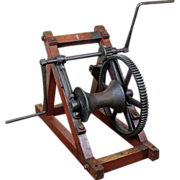 Industrial Two Man Hand Winch c. 1900
