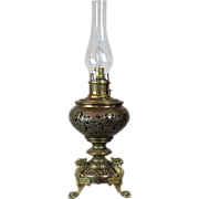The Rochester Oil Table Lamp Victorian Pat. June 7, 1887