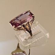 Vintage Amethyst 14K Gold Ring Sz 5
