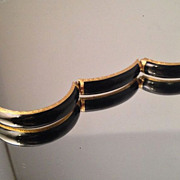 Unique Victorian 18K Gold Enamel Mourning Bracelet with Hidden Compartment