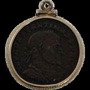 14K Roman Constantine Bronze Coin Pendant