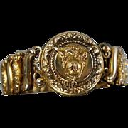 1940 Naval Academy Gold Filled Sweetheart Expandable Bracelet Locket USNA