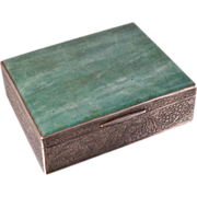 Large Persian 900 Silver Aventurine Box