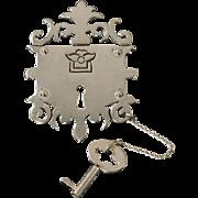 Amazing Los Castillo Lock & Key Sterling Pin Brooch